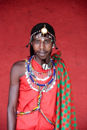 maasai: in the beautiful plains of the masai reserve in kenya africa