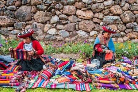 cuzco: Cuzco, Peru - July 15, 2013: women selling handcraft in the peruvian Andes at Cuzco Peru on july 15th, 2013 Editorial