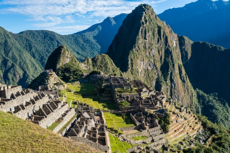 cuzco: Machu Picchu, Incas ruins in the peruvian Andes at Cuzco Peru Stock Photo
