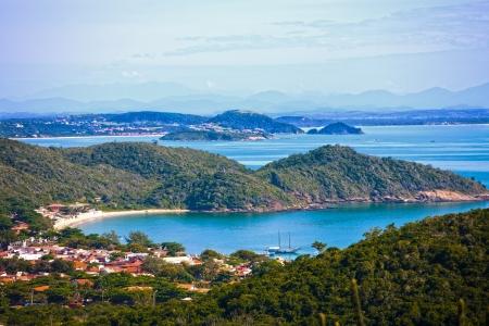 praia: praia joao fernandes in the beautiful typical brazilian city of buzios near rio de janeiro in brazil Stock Photo