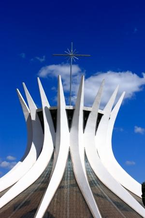 senhora: Catedral Metropolitana Nossa Senhora AparecidaThe Metropolitan Cathedral of Brasilia city capital of Brazil  Stock Photo