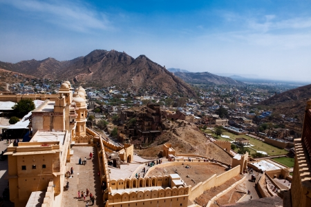 amber: Amber Fort in jaipur in rajasthan state in india