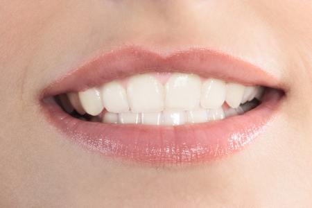 smile close up: close up of beautiful mouth lips teeth smile smiling caucasian woman