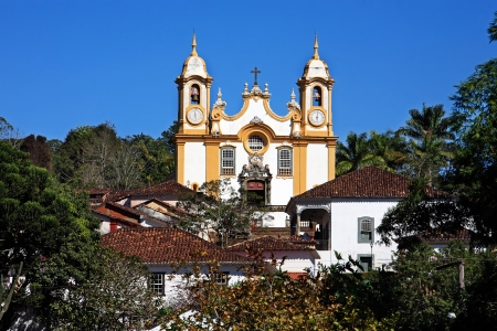 santo: Matriz de Santo Antonio church church of the typical village of tiradentes in minas gerais state in brazil