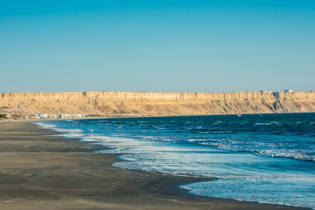 Colan beach in the peruvian coast at Piura Peru Imagens - 23648701