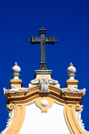 Matriz 드 산토 안토니오 교회 전형적인 마을의 티아 덴테의 미나스 제 라이스 상태 브라질에서