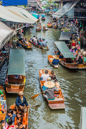 Bangkok, Thailand - December 30, 2013: Amphawa bangkok floating market at Bangkok, Thailand on december 30th, 2013