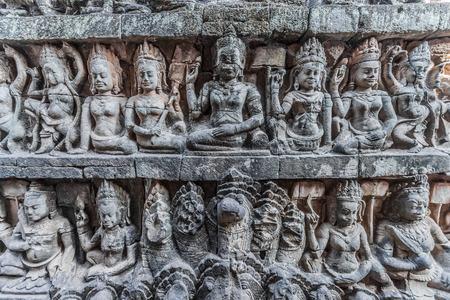 angkor thom: stone carving detail  angkor thom cambodia
