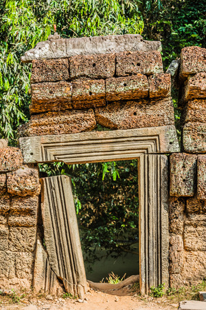 small gateway ta prohm angkor wat cambodia photo