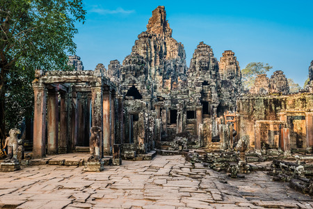 プラサート ・ バイヨン寺院アンコール ・ トム カンボジア 写真素材