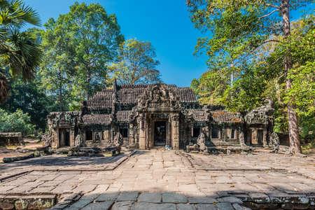 ta prohm angkor wat cambodia Фото со стока