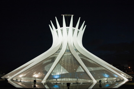 senhora: Cathedral Metropolitana Nossa Senhora Aparecida The Metropolitan Cathedral of Brasilia city capital of Brazil UNESCO World Heritage site is an expression of the geniality of the architect Oscar Niemeyer