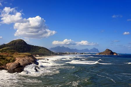 the ocean state: view of prainha beach in rio de janeiro brazil
