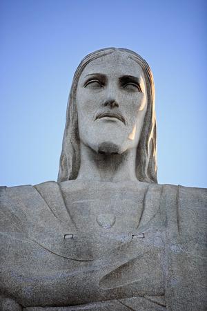rio de janeiro: portrait of christ redeemer in rio de janeiro brazil