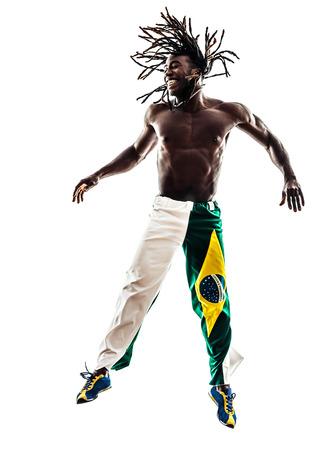one Brazilian black man on white background photo