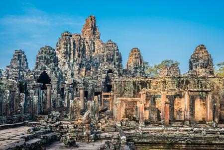 prasat bayon: prasat bayon temple Angkor Thom Cambodia Stock Photo