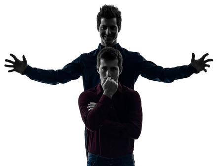 esquizofrenia: blancos sombra concepto de dominación dos jóvenes