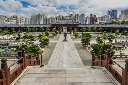 chinese courtyard: Chi Lin Nunnery courtyard at Kowloon in Hong Kong