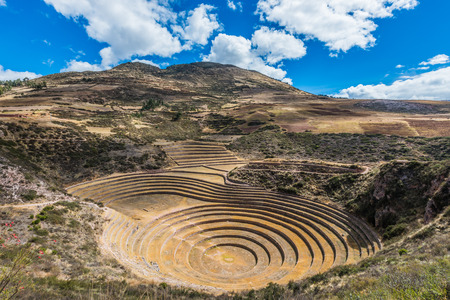 cuzco: Moray, Incas ruins in the peruvian Andes at Cuzco Peru