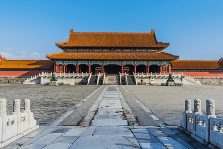 Taihemen gate of supreme harmony imperial palace Forbidden City of Beijing China photo
