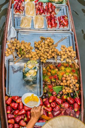 amphawa: fruit boat Amphawa Bangkok floating market Bangkok Thailand