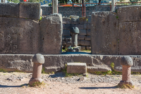 phallus: Fertility temple in the peruvian Andes at Puno Peru