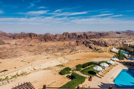 panoramics: scenic view of the Petra valley in Jordan