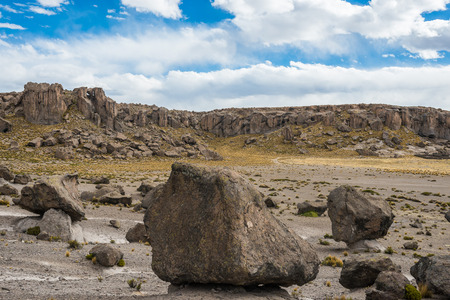 andes: Imata Stone Forest in the peruvian Andes at Arequipa Peru