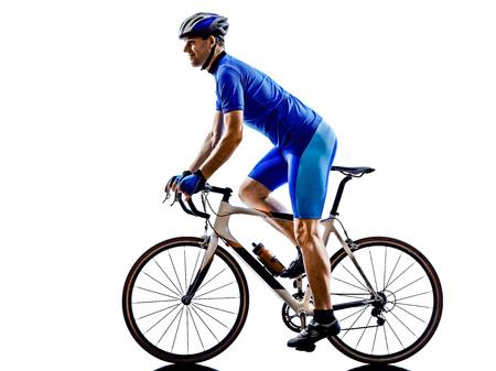 cicla: una bicicleta de ruta ciclista en silueta sobre fondo blanco