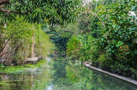 backwaters: Amphawa Bangkok backwaters Bangkok Thailand Stock Photo