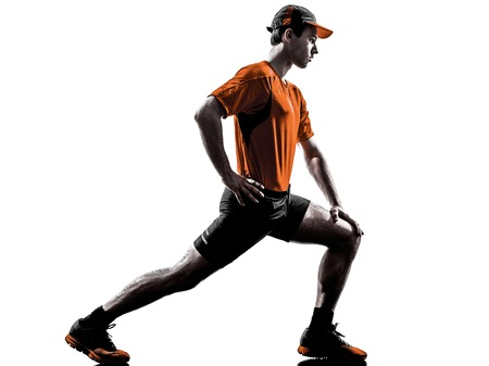 atleta: hombre de estiramiento
