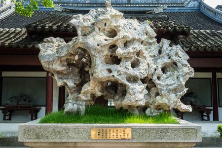 miao: detail of Wen Miao confucian confucius temple in Shanghai China popular republic