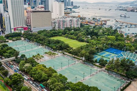 victoria park: cityscape at Victoria Park Causeway Bay in Hong Kong