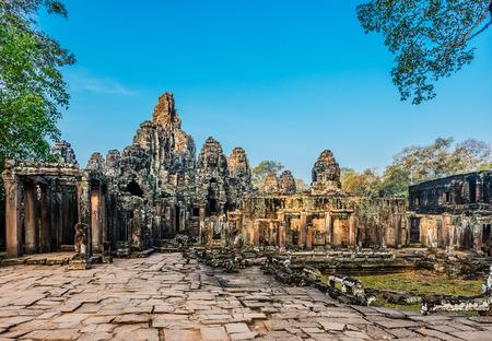 bayon: prasat bayon temple Angkor Thom Cambodia Stock Photo