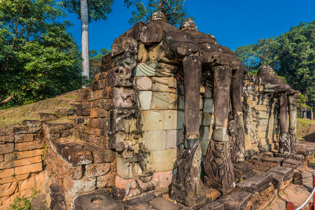 thom: elephant terrace Angkor Thom Cambodia