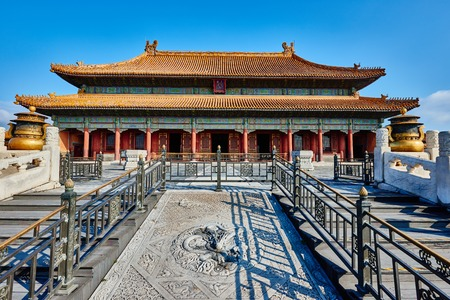 heavenly: Qianqinggong Palace of Heavenly Purity imperial palace Forbidden City of Beijing China Editorial