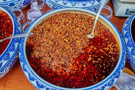 spicy cooking: traditional spicy food Sichuan cuisine Sichuan China Stock Photo