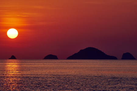 seascape sunset between El Nido and coron in Palawan Philippines Palawan Philippines
