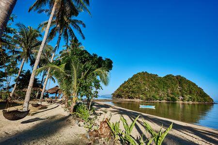 palawan: marimegmeg beach El Nido in Palawan Philippines