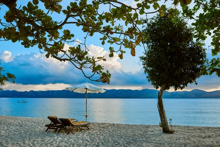 palawan: white sand beach of coron island in Palawan Philippines Stock Photo
