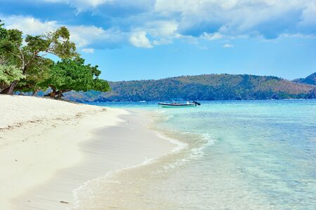 coron: white sand beach of coron island in Palawan Philippines Stock Photo
