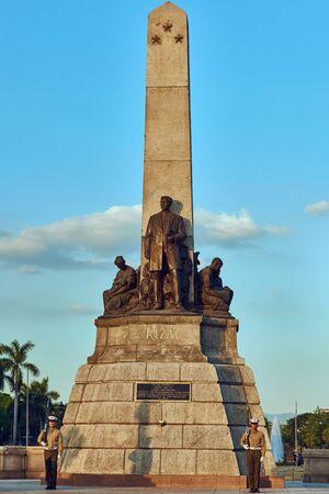 Rizal Monument in Luneta Park Manila in Luzon in Philippines