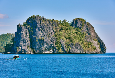 seascapes: Cadlao island islands  El Nido in Palawan in in Philippines Stock Photo