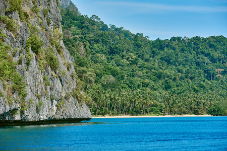 palawan: Cadlao island islands  El Nido in Palawan in in Philippines Stock Photo