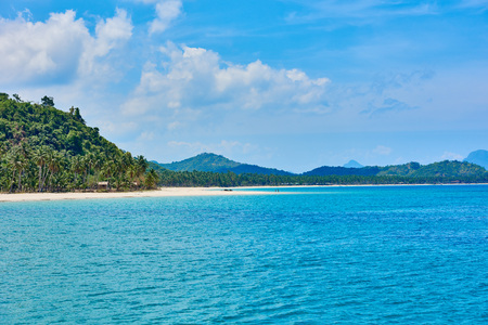 seascapes: Nacapan islands beaches between El Nido and coron in Palawan Philippines Stock Photo