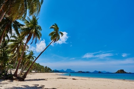nido: Nacapan El Nido in Palawan Philippines Stock Photo