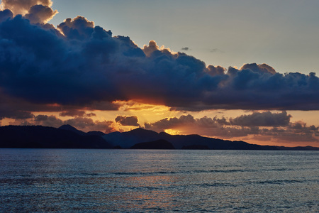 seascapes: Seascapes sunset in Palawan Philippines