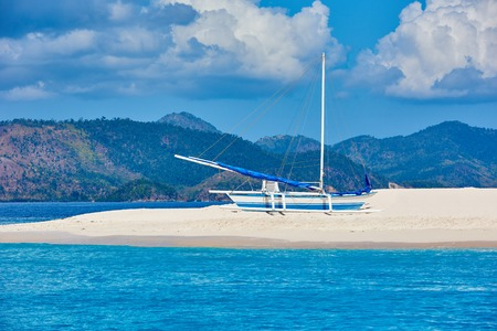 seascapes: white sand beach of coron island in Palawan Philippines Stock Photo
