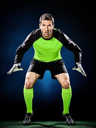 Bramkarz piłkarski człowiek odizolowanych