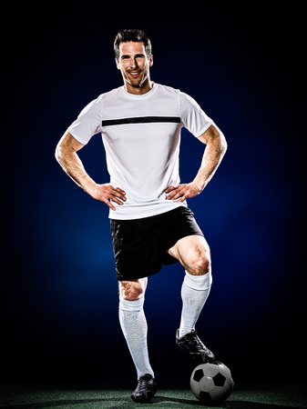 football player: soccer player man isolated
